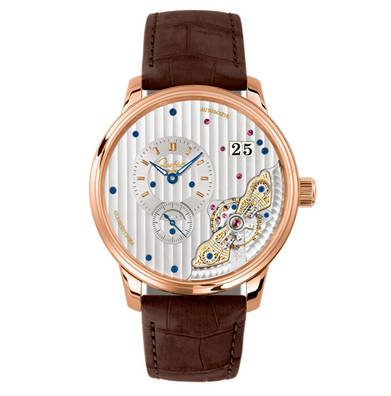 Glashütte Original PanoMaticInverse Gold Watch Front