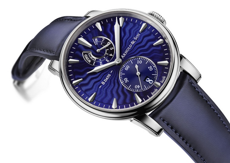 Arnold & Son Eight-Day Royal Navy Blue Dial Watch
