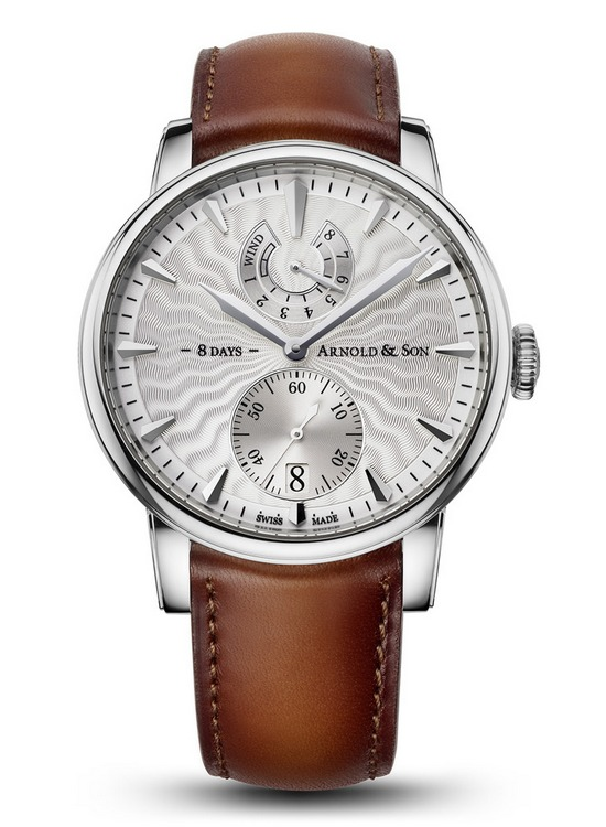 Arnold & Son Eight-Day Royal Navy Silver Dial Watch Front