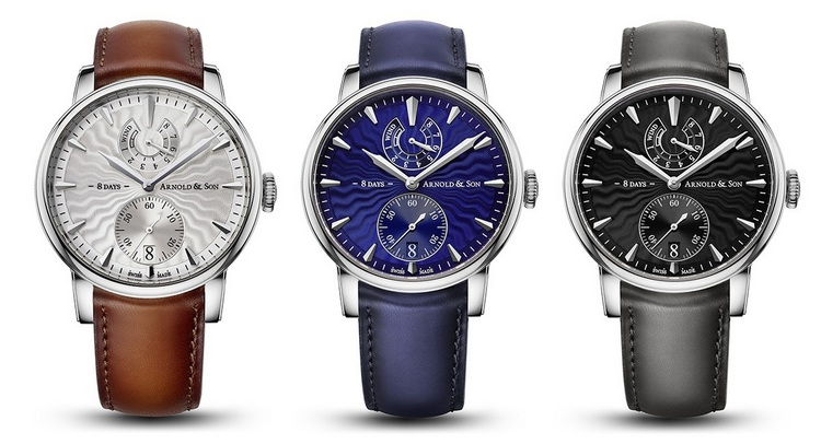 Arnold & Son Eight-Day Royal Navy Watches Trio