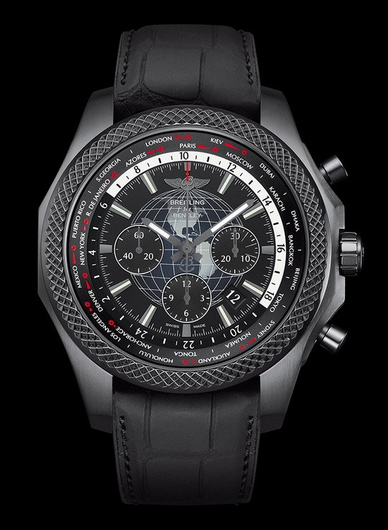 Breitling for Bentley B05 Unitime Midnight Carbon Watch Front