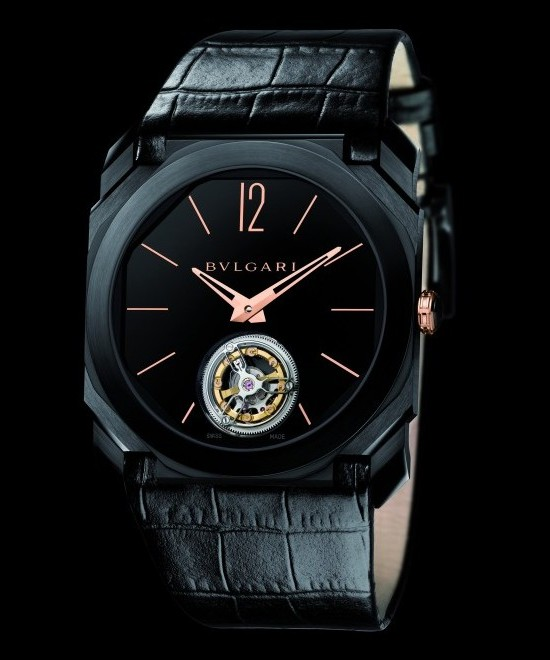 Bulgari Octo Ultranero Finissimo Tourbillon Watch Front