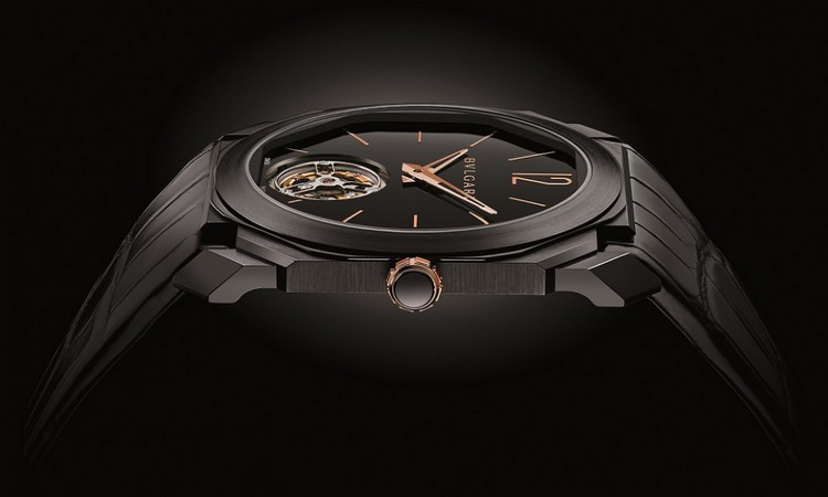 Bulgari Octo Ultranero Finissimo Tourbillon Watch Profile