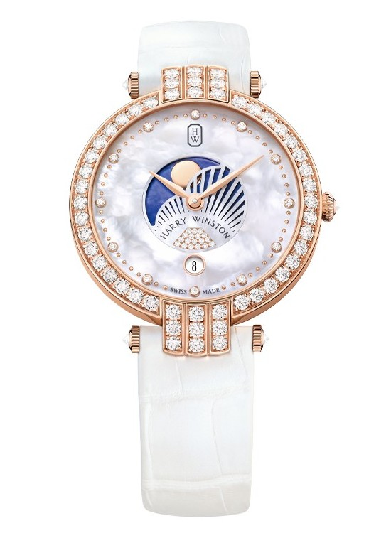 Harry Winston Premier Moon Phase 36mm Watch Front