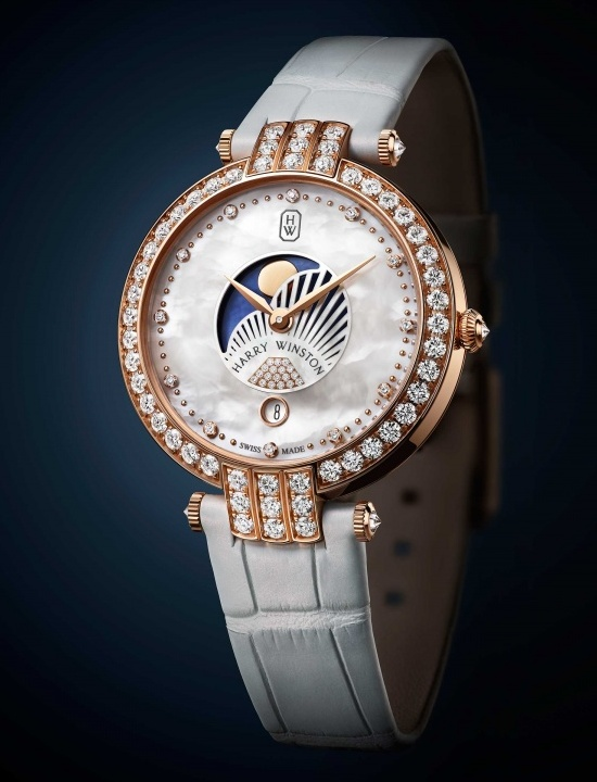 Harry Winston Premier Moon Phase 36mm Watch