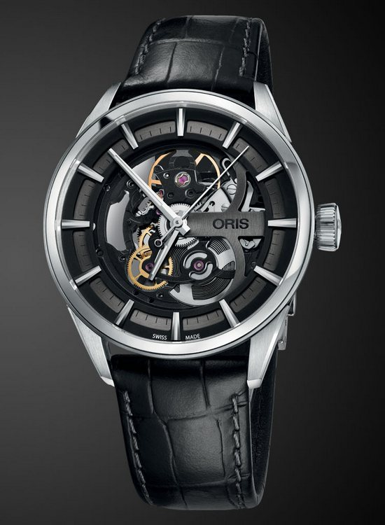 Oris Artix Skeleton Watch Leather Strap