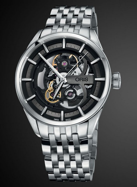 Oris Artix Skeleton Watch Stainless Steel Bracelet