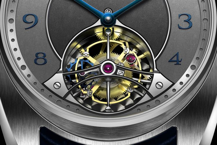 AkriviA Tourbillon Barrette-Miroir Watch Dial Detail