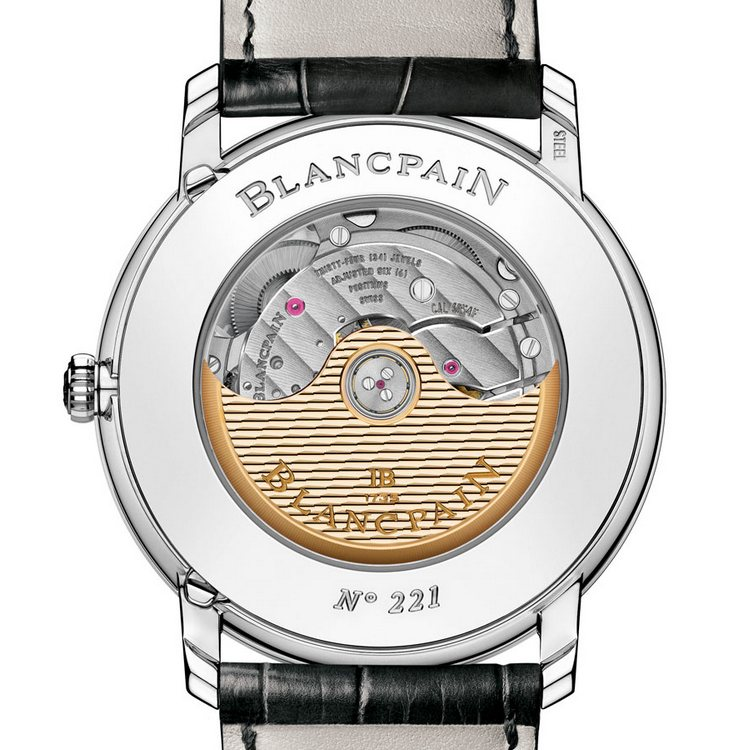 Blancpain Villeret Quantième Annuel GMT Steel Watch Case Back