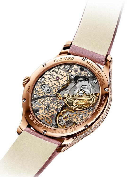 Chopard L.U.C XP 35 mm Esprit de Fleurier Peony Watch Back