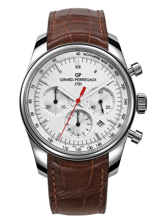 Girard-Perregaux Stradale Chronograph Watch Silver Dial Front