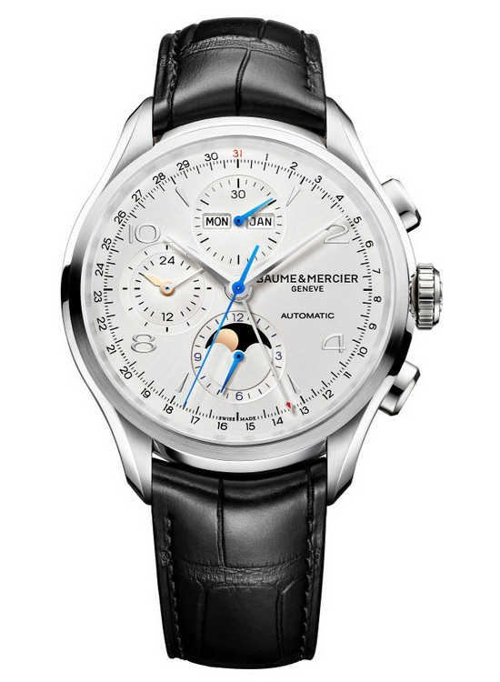 Baume et Mercier Clifton Chronograph Complete Calendar Watch - Front