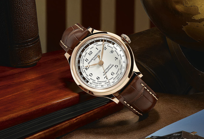 Baume & Mercier Capeland Worldtimer Watch Leather Strap