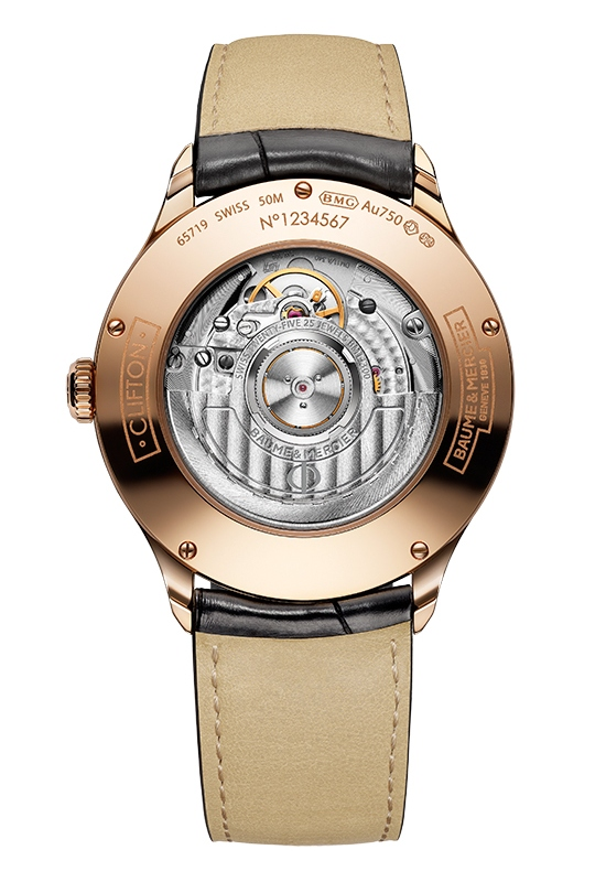 Baume Mercier Clifton Automatic Watch Caseback