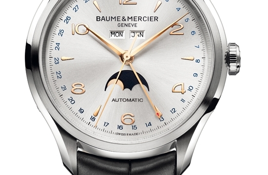 Baume & Mercier Clifton Complete Calendar Moonphase 10055 Watch Detail