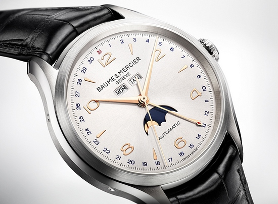 Baume & Mercier Clifton Complete Calendar Moonphase 10055 Watch Dial