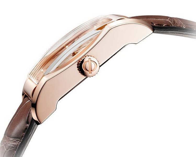 Baume & Mercier Hampton Small Seconds in Rose Gold Watch Side View
