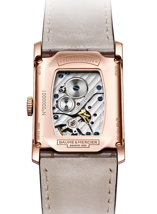 Baume & Mercier Hampton Small Seconds in Rose Gold Watch Caseback