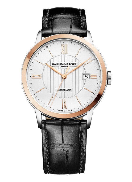 Baume & Mercier 2015 Classima Black Leather Watch