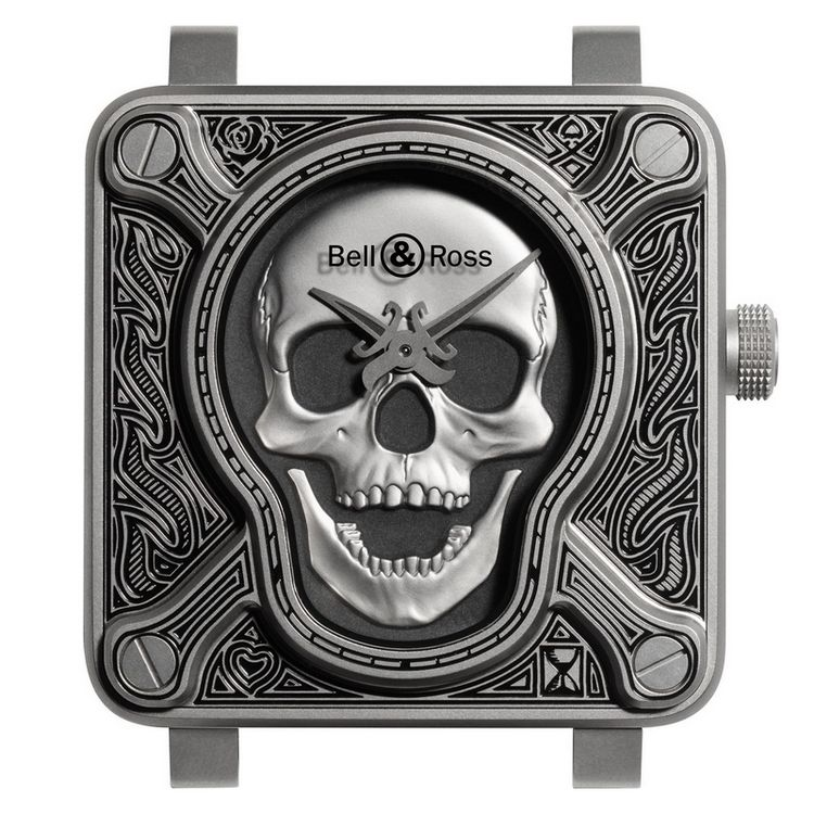 Bell & Ross BR01 Burning Skull Watch Dial