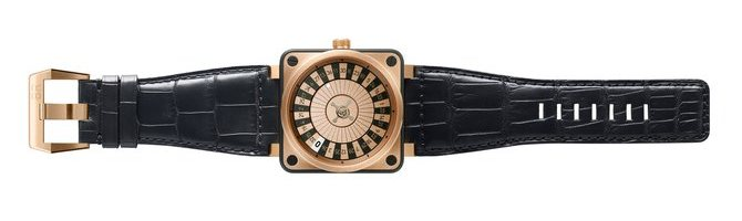 Bell & Ross BR01 Casino Pink Gold Watch