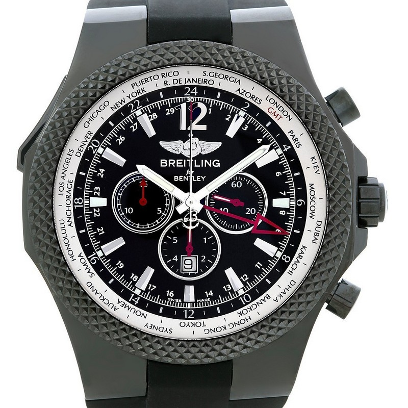Breitling for Bentley GMT Midnight Carbon Limited Edition Watch Dial