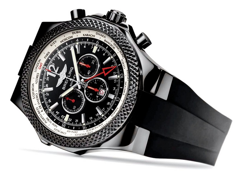 Breitling for Bentley GMT Midnight Carbon Limited Edition Watch Side View