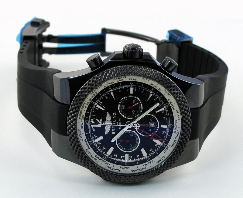 Breitling for Bentley GMT Midnight Carbon Limited Edition Watch Side
