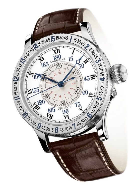 Longines Heritage Lindbergh Hour Angle L2.678.4.11.0 Watch 47.5mm