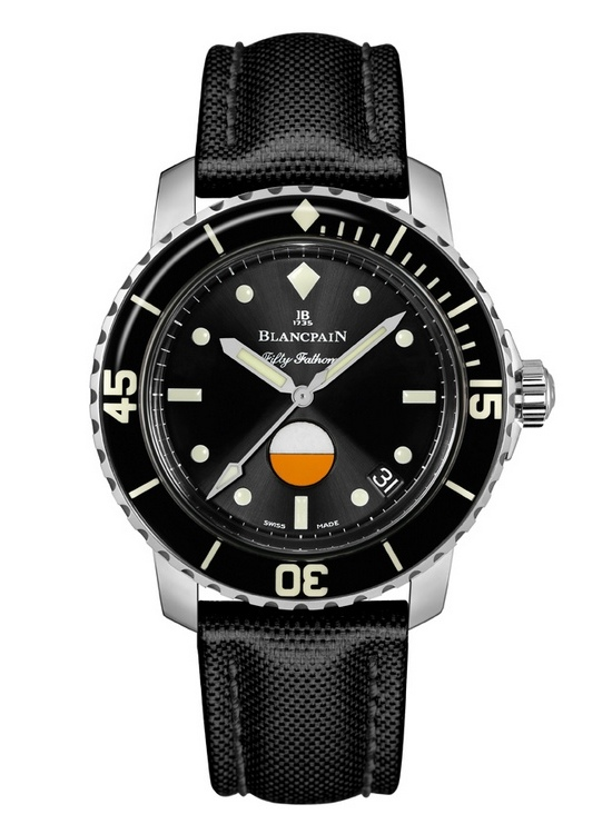 Blancpain Tribute to Fifty Fathoms Mil-Spec Watch Front