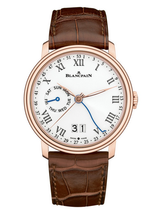 Blancpain Villeret 8 Day Week of the Year Large Date Watch Front