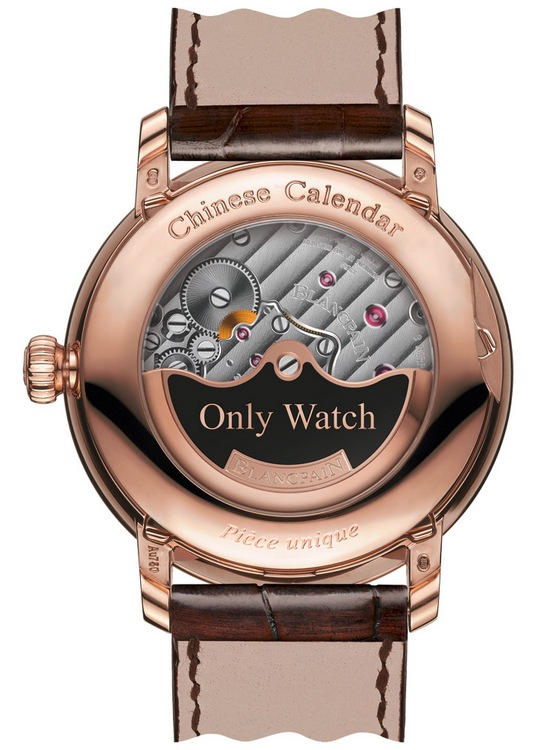 Blancpain Villeret Traditional Chinese Calendar Only Watch 2015 Case Back