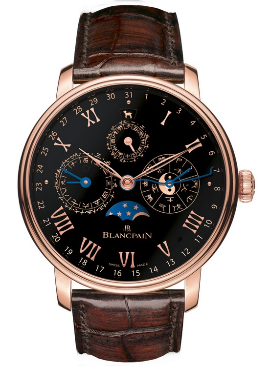 Blancpain Villeret Traditional Chinese Calendar Only Watch 2015 Front