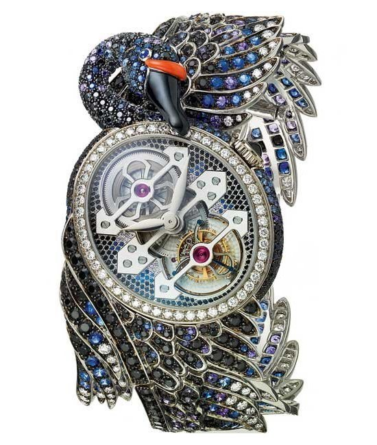Boucheron Cypris Tourbillon Black Swan Watch