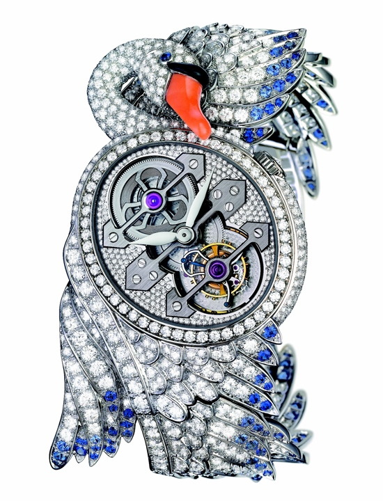 Boucheron Cypris Tourbillon White Swan Watch