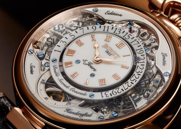 Bovet 1822 Virtuoso VII Retrograde Perpetual Calendar Watch Dial