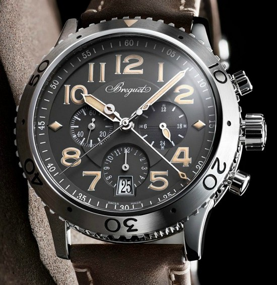 Breguet Type XXI 3813 Chronograph Platinum Only Watch 2015 Dial
