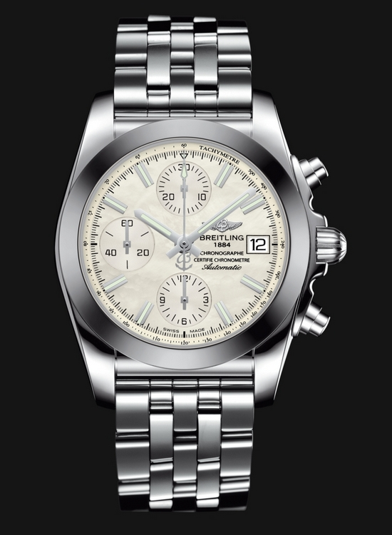 Breitling Chronomat 38 SleekT Watch - White Mother-of-Pearl Dial