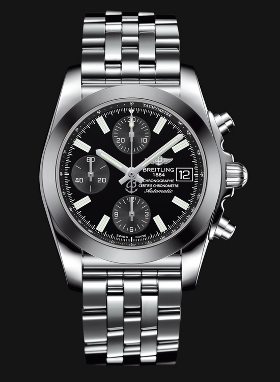 Breitling Chronomat 38 SleekT Watch - Onyx Black Dial