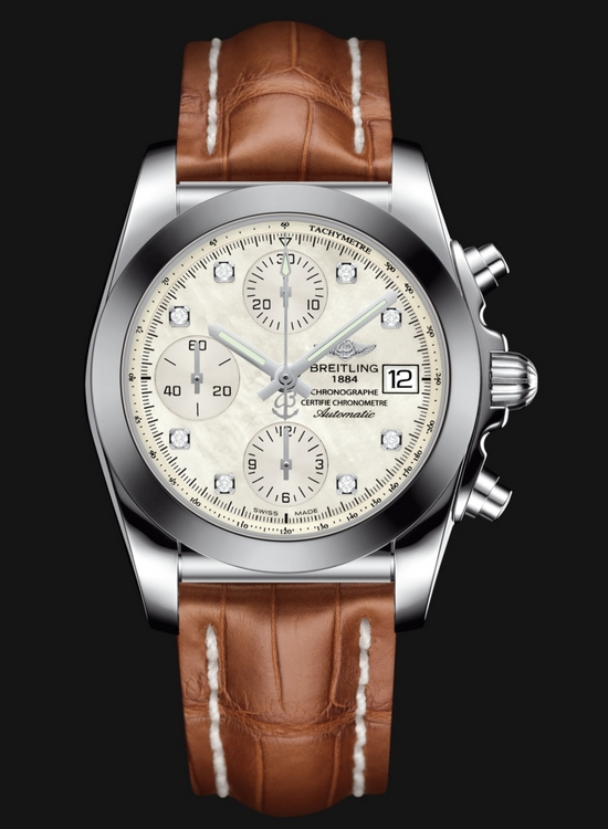 Breitling Chronomat 38 SleekT Watch - Diamond Hour Markers
