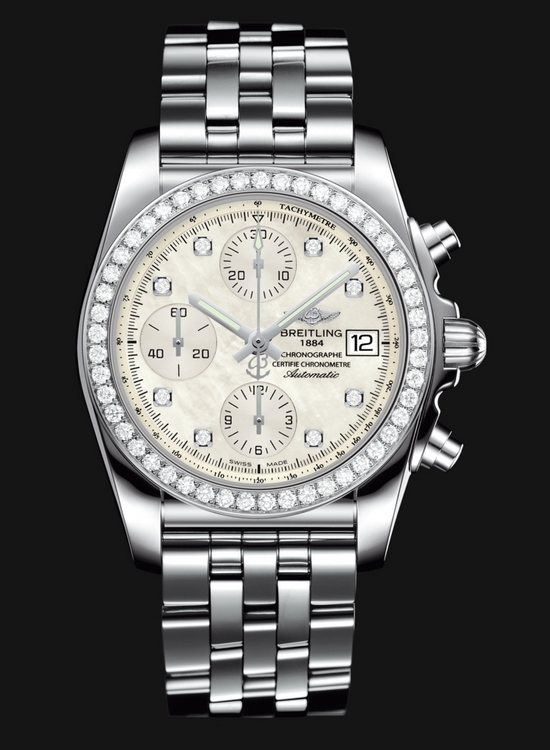 Breitling Chronomat 38 SleekT Watch - Diamonds on the Bazel