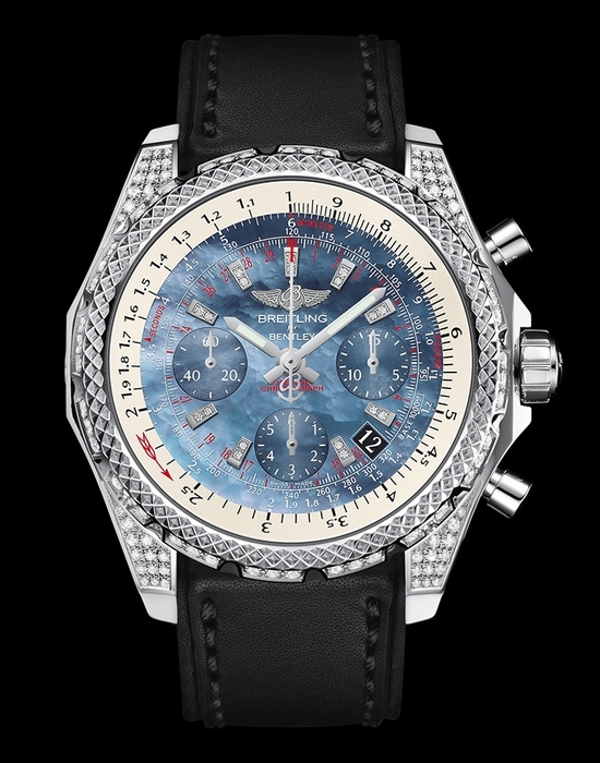 Breitling for Bentley B06 S Steel Pearl Dial Watch Diamonds