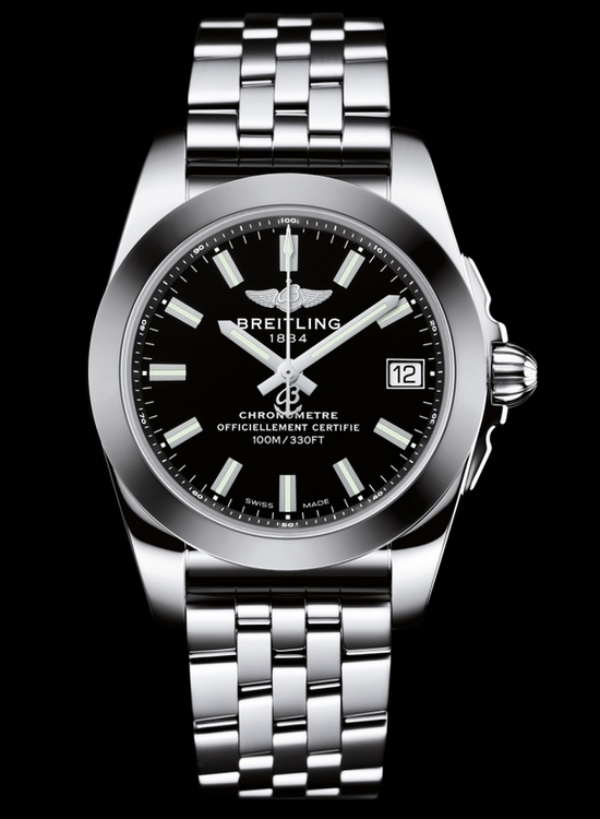 Breitling Galactic 36 SleekT Black Dial Watch