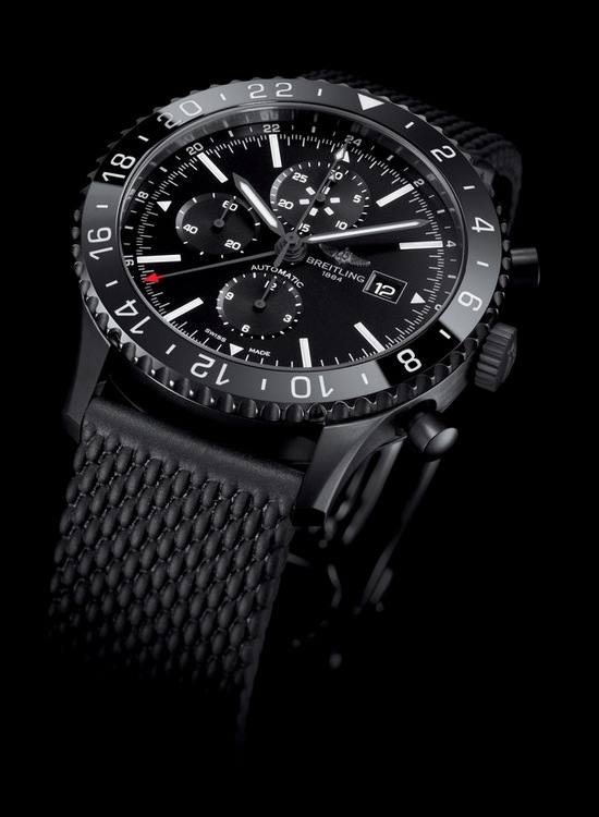 Breitling Chronoliner Blacksteel Watch