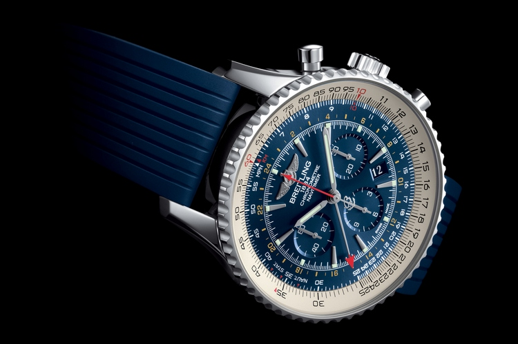 Breitling Navitimer GMT Aurora Blue Watch