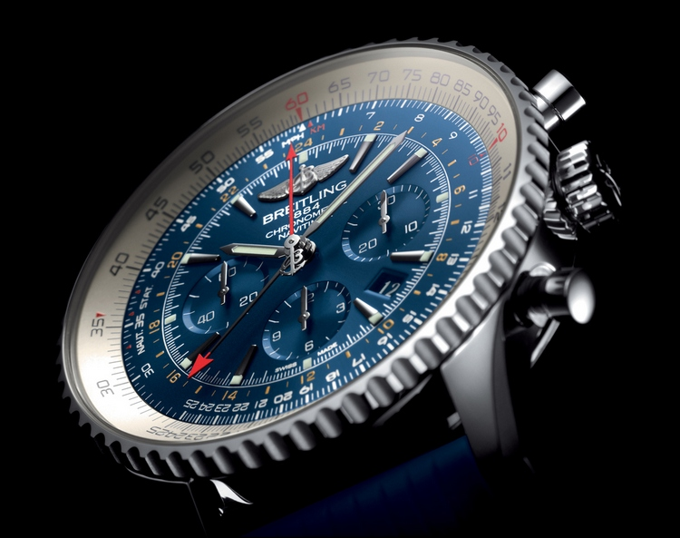 Breitling Navitimer GMT Aurora Blue Watch Dial