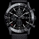Breitling Chronoliner Blacksteel Watch Front