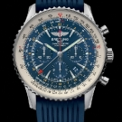 Breitling Navitimer GMT Aurora Blue Watch Front