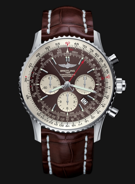Breitling Navitimer Rattrapante Stainless Steel Watch