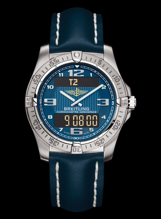 Breitling Professional Aerospace Watch Air Force Blue Dial
